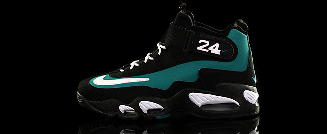 ...The fact that all of these Griffey retros have been greeted so warmly so   as to spawn a series of hybrid mashups, proves that Junior's contributions to baseball, as well as the sneaker game, not only stand   up to the test of time, but transcend the game in a way we haven't seen since guys like Babe Ruth and Joe Dimaggio were the nation's biggest celebrities. Meanwhile, it'd take a Ken Jennings-like mind to recall what kind of cleats Big Mac wore while he was socking all those dingers, while those who remember Barry Bonds' Filas continue to chuckle at the   fact that only a foreign company would sign the surly slugger. It's almost like we got it right all those years ago without even knowing it, and it's a fitting tribute to Ken Griffey Jr.'s untouched excellence that sneakerhead demand still clears the Air Griffey Max 1 from shelves anytime they're released – with 2011′s 'Emerald' edition proudly standing as a bonafide classic and the godfather of them all...-sneakernews.com