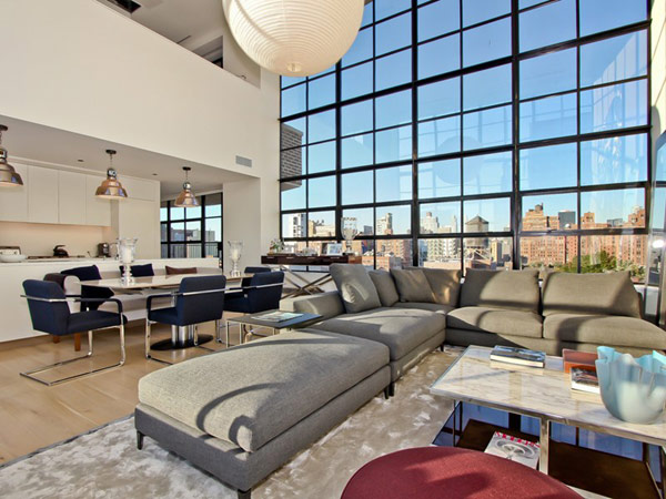contemporary penthouse New York 1 Spectacular Duplex Penthouse in New York Defying the Urban Racket