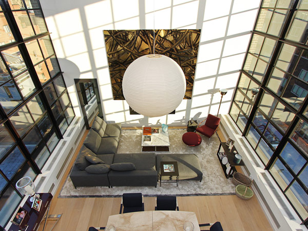 contemporary penthouse New York 2 Spectacular Duplex Penthouse in New York Defying the Urban Racket