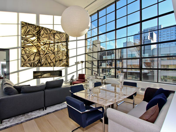 contemporary penthouse New York 3 Spectacular Duplex Penthouse in New York Defying the Urban Racket