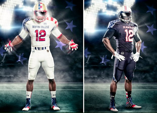 boston college wounded warriors uniforms