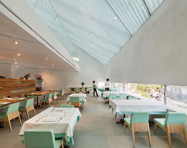 Dining 1 Steel Contemporary Shaped Art Centre in South Korea