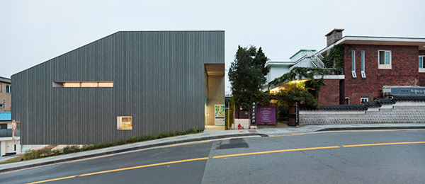 Street View1 Steel Contemporary Shaped Art Centre in South Korea