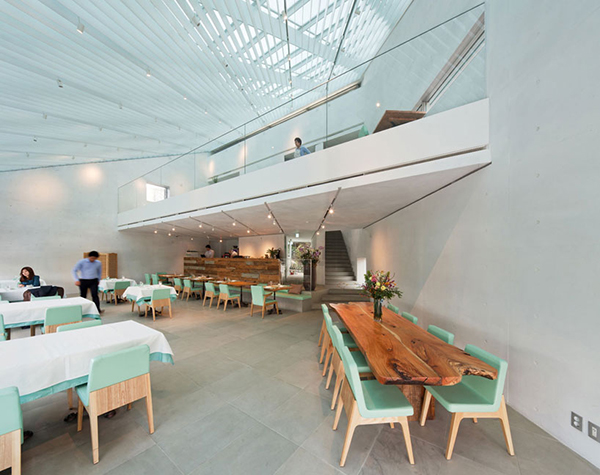 Dining Area Details1 Steel Contemporary Shaped Art Centre in South Korea