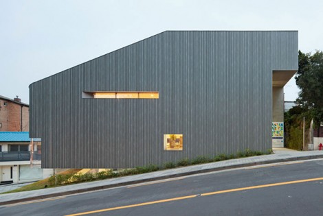 Steel Contemporary Shaped Art Centre in South Korea