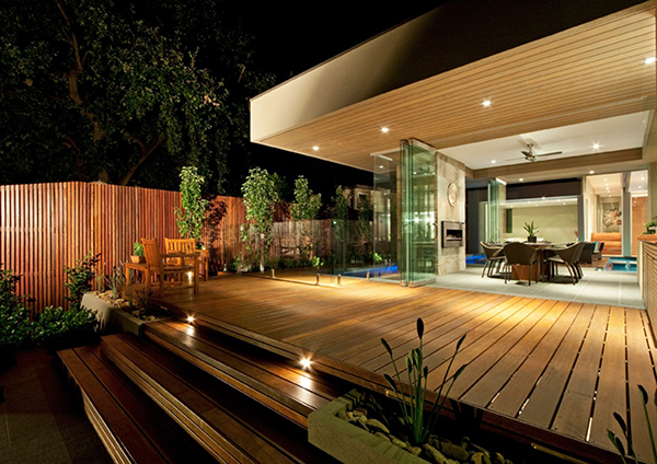 Wooden Deck And Nature Gorgeous Contemporary Home Inspired By The Summer