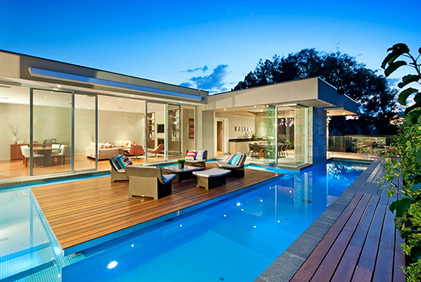 Smooth Evening View  Gorgeous Contemporary Home Inspired By The Summer