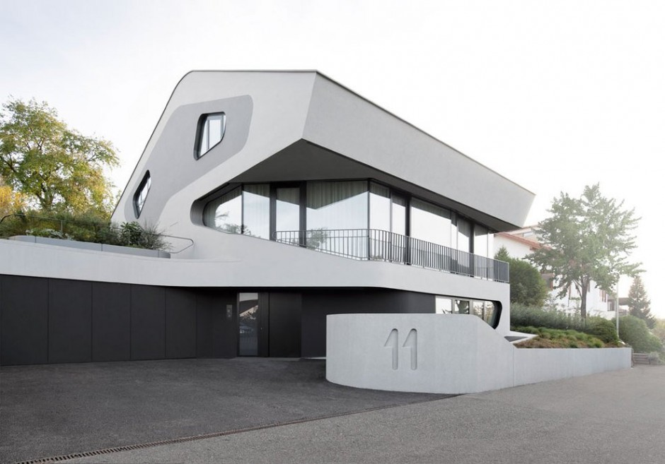 architecture OLS House1 Sustainable and Futuristic Architecture in Stuttgart: OLS House