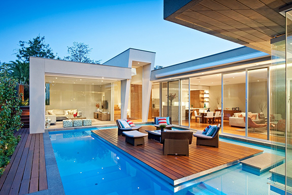 Terrace View Gorgeous Contemporary Home Inspired By The Summer