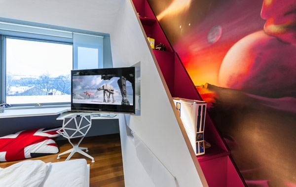modern boy room 4 Inspiring Bedrooms for Boy and Girl in Modern Slovakian Crib