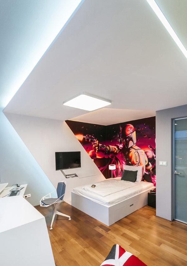 modern boy room 7 Inspiring Bedrooms for Boy and Girl in Modern Slovakian Crib