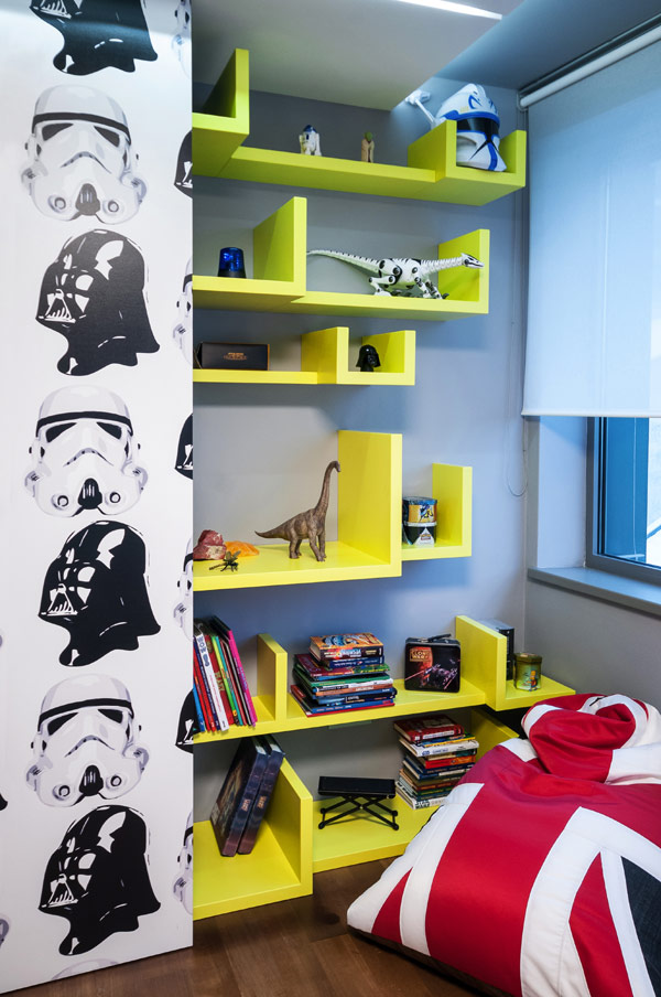 modern boy room 8 Inspiring Bedrooms for Boy and Girl in Modern Slovakian Crib