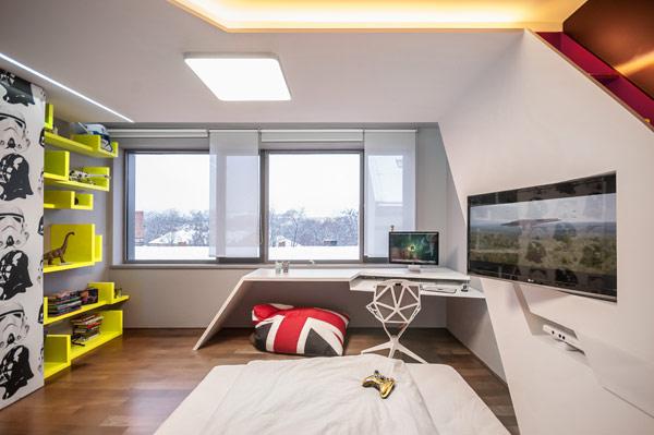 modern boy room 6 Inspiring Bedrooms for Boy and Girl in Modern Slovakian Crib